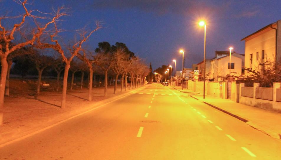 El carrer del Francolí, punt d'entrada a la urbanització.