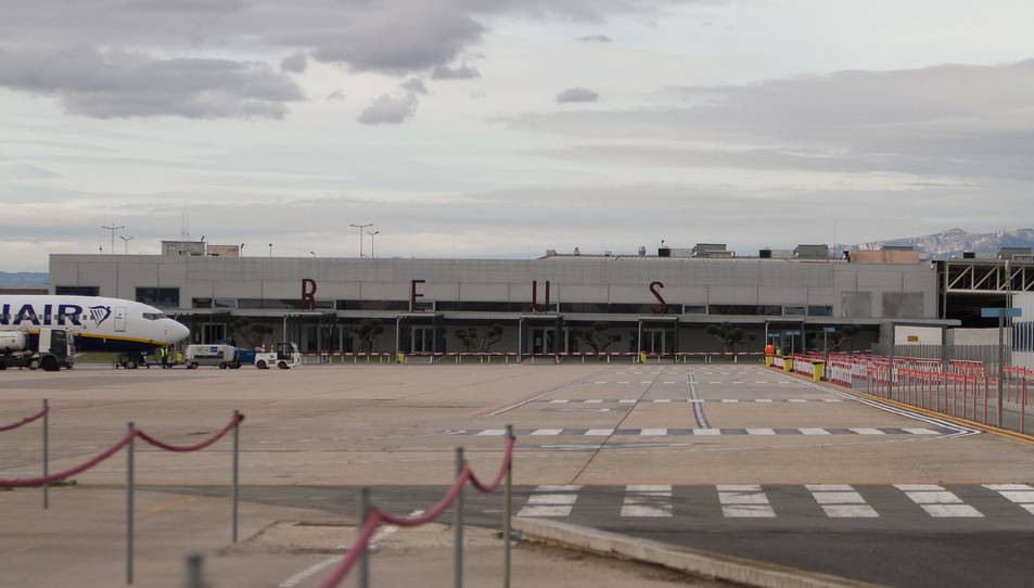 Una imatge d'arxiu de les pistes de l'Aeroport de Reus.