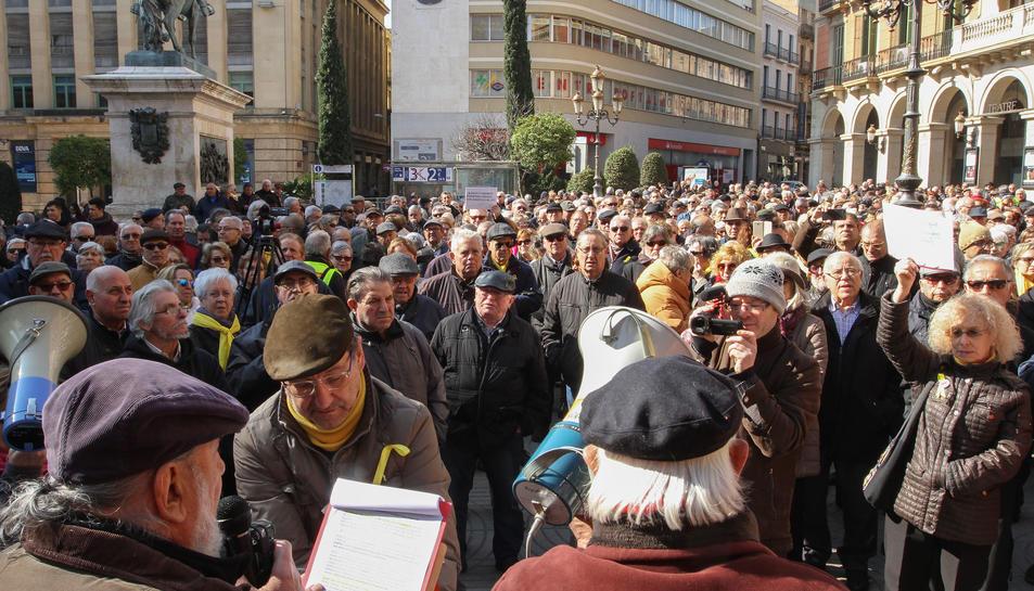 La Marea Pensionista del Camp de Tarragona ha organitzat una cita que s'ha repetit en diverses ciutats del país.
