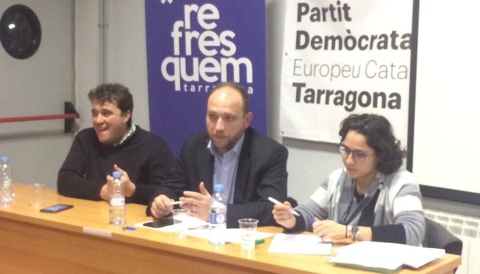 Imatge de l'assemblea del Partit Demòcrata celebrada ahir al vespre.