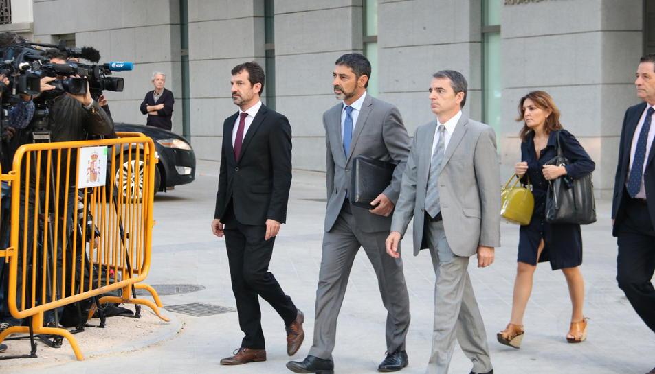 El major dels Mossos, Josep TRapero, arribant a l'Audiència Nacional.
