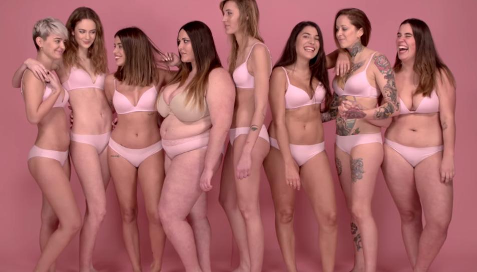 «Siguis com siguis,pesis el que pesis, ets preciosa» recorda el vídeo.