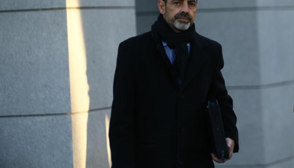 Josep Lluís Trapero, a la seva arribada a l'Audiència Nacional.