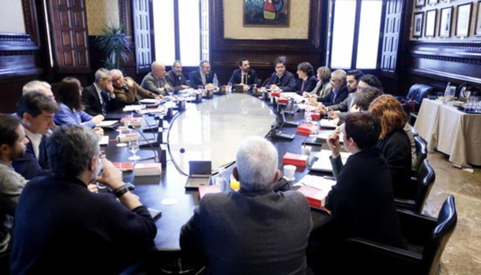 Pla general de la reunió de la Mesa del Parlament i la Junta de Portaveus del 23 de febrer de 2018.