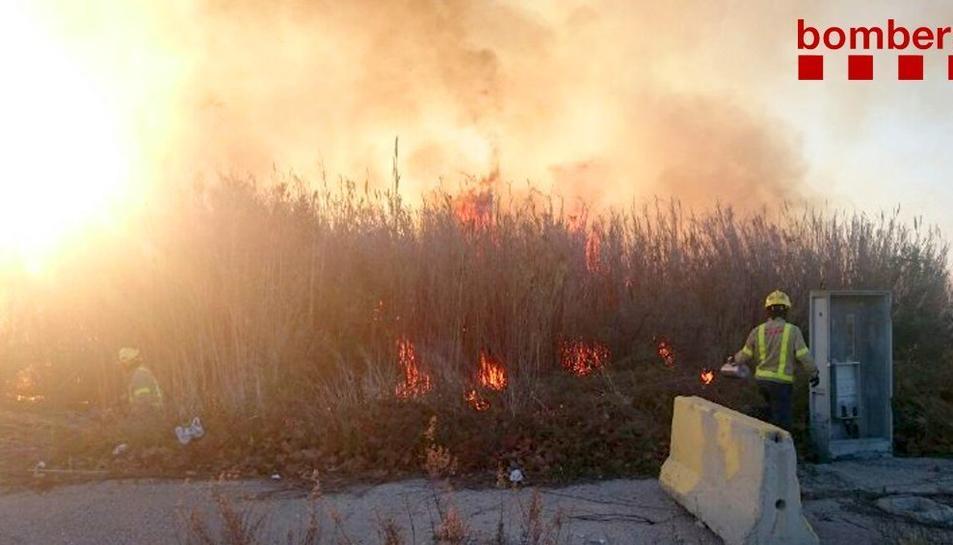 L'incendi s'ha produït a la zona de Bellissens.
