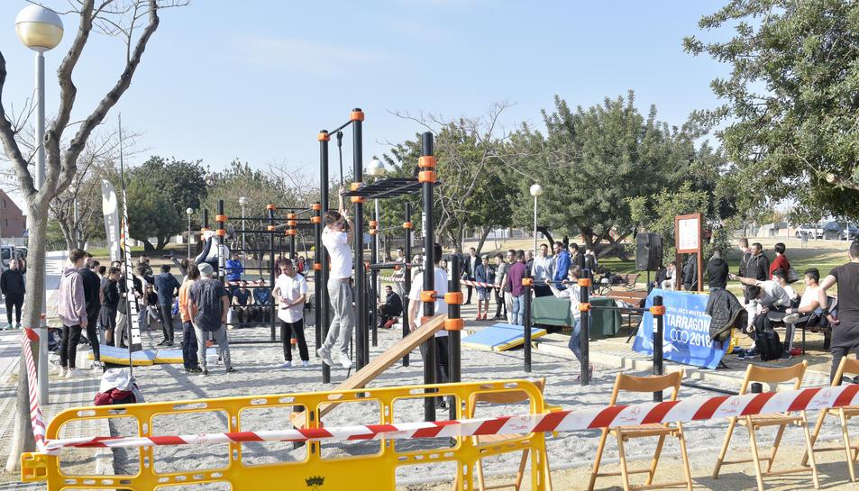L'acte inaugural del nou parc de barres va tenir lloc aquest dissabte 24 de febrer.