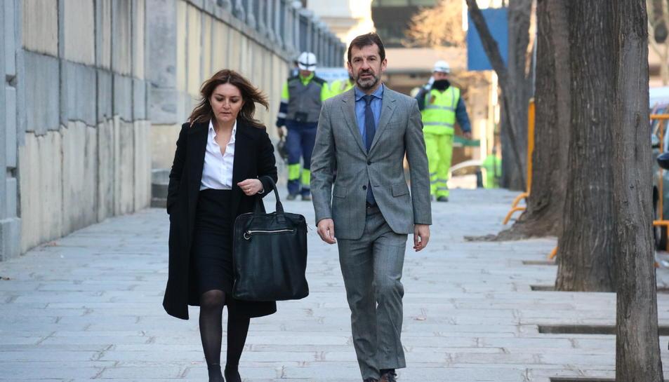 El comissaro en cap dels Mossos, Ferran López, a les portes del Tribunal Suprem.