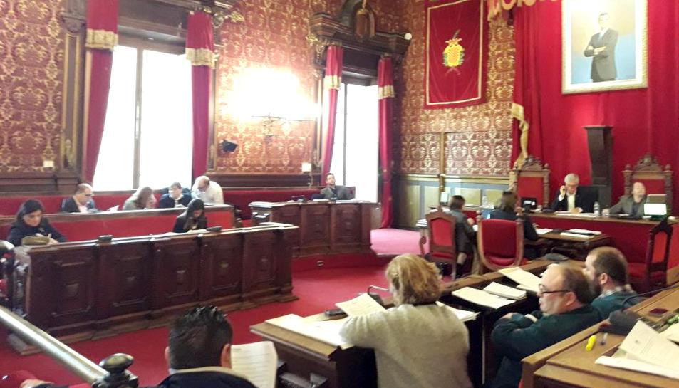 El plenari municipal celebrat aquest dilluns.