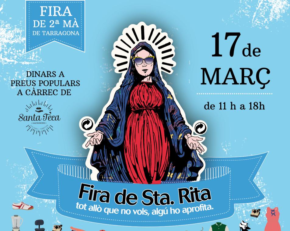 Imatge del cartell de la tercera edició de la Fira Santa Rita.