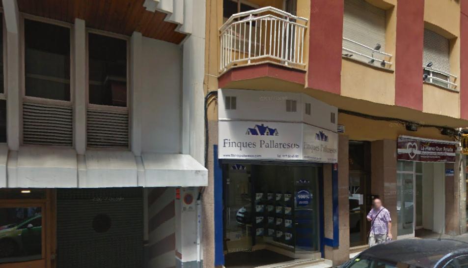 Imatge de l'oficina de Finques Pallaresos del carrer Jaume I.