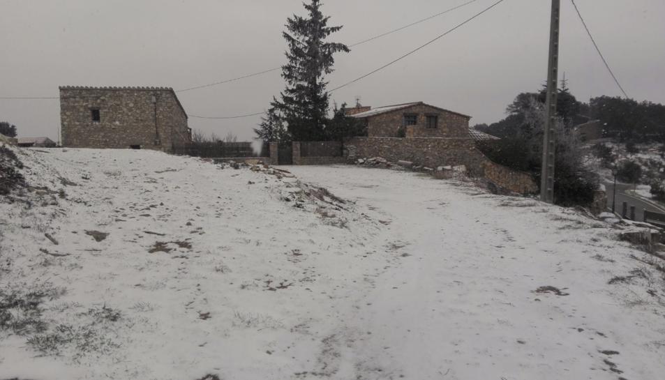 La neu ha agafat a Rojals.