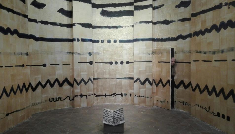 Àlvar Calvet i el seu treball a la Capella de Sant Roc de Valls.