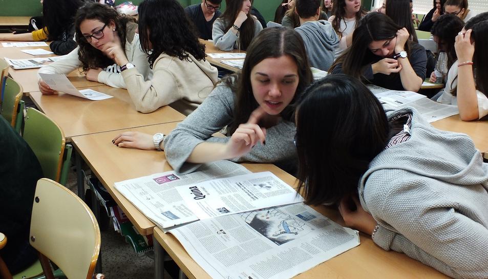 Imatge d'una edició anterior del programa 'Premsa a les escoles'.