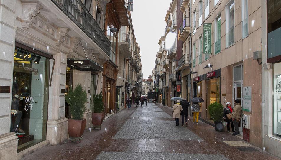La neu al carrer Monterols a Reus