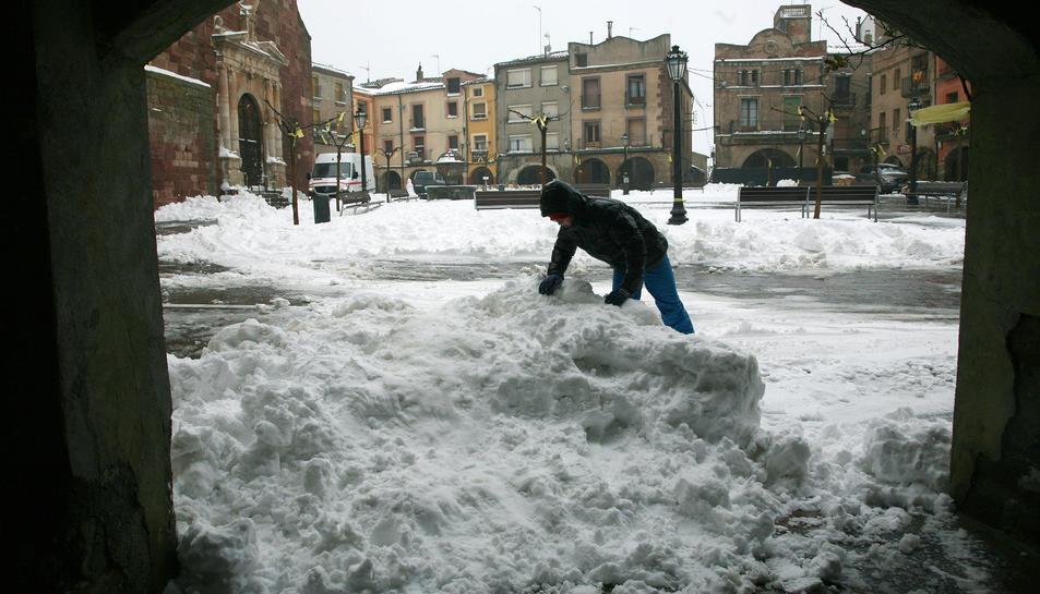 A Prades es van acumular gruixos destacats de neu.
