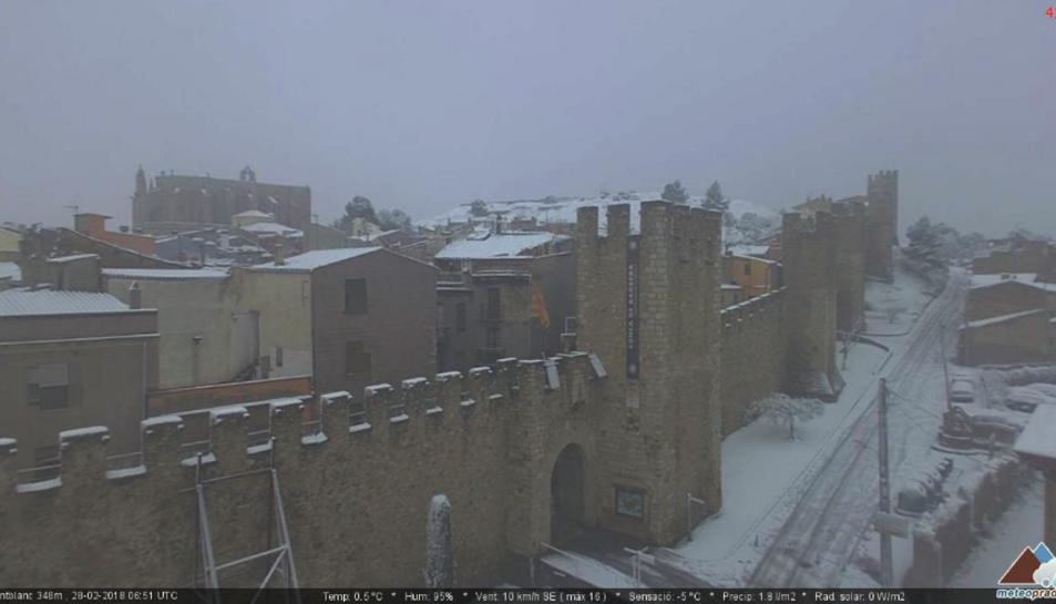 Imatge de Montblanc, el matí d'aquest dimecres.