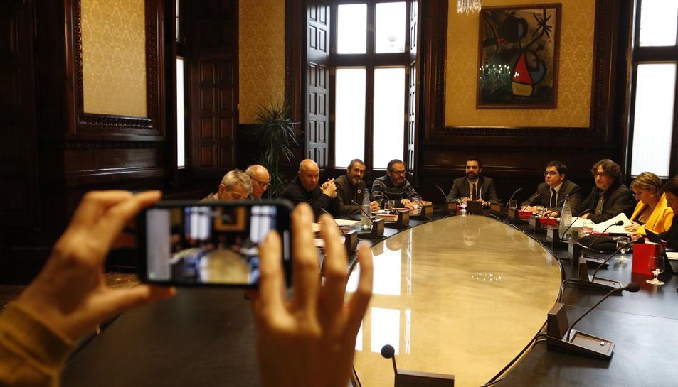 Imatge de la reunió de la Mesa d'avui.