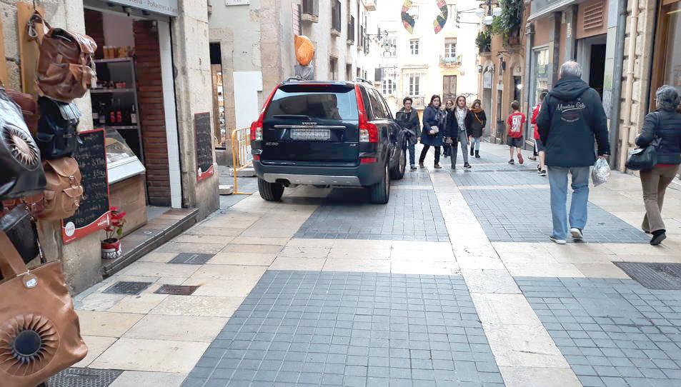 Carrer Major a la Part Alta de Tarragona.
