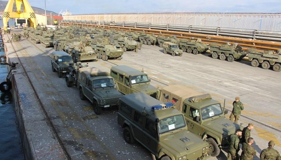 Els vehicles que partiran de Tarragona a Saragossa.
