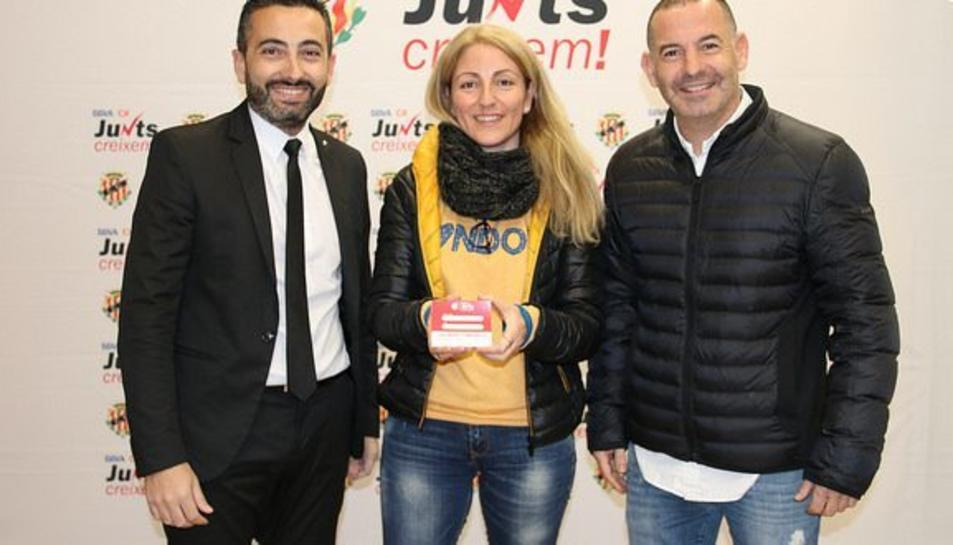 Toni Calderón, Iolanda Santiago i Jordi Ruiz.
