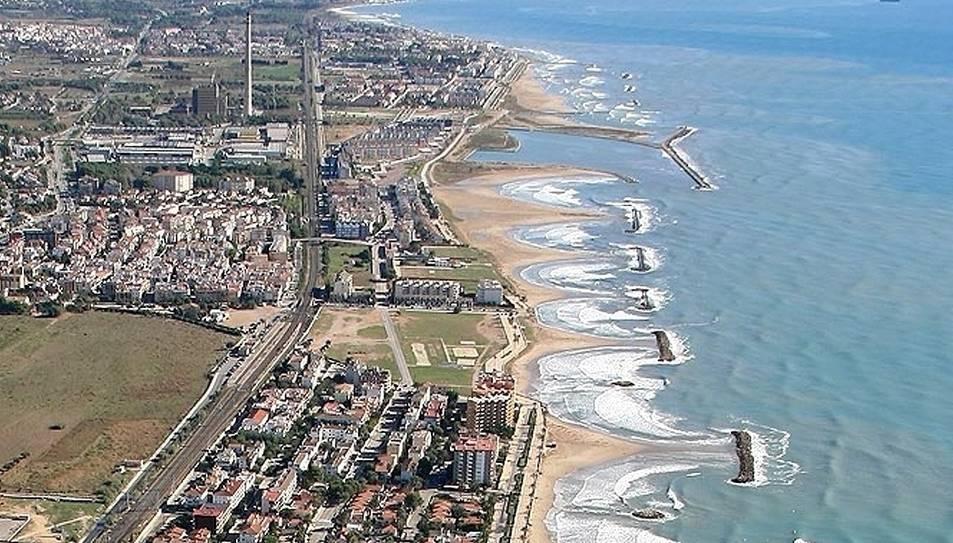 Imatge de la costa de Cubelles i Cunit.