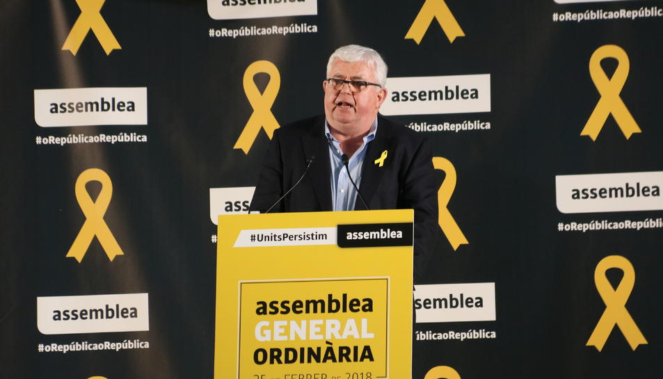El vicepresident de l'ANC; Agustí Alcoberro, durant la cloenda de l'AGO.