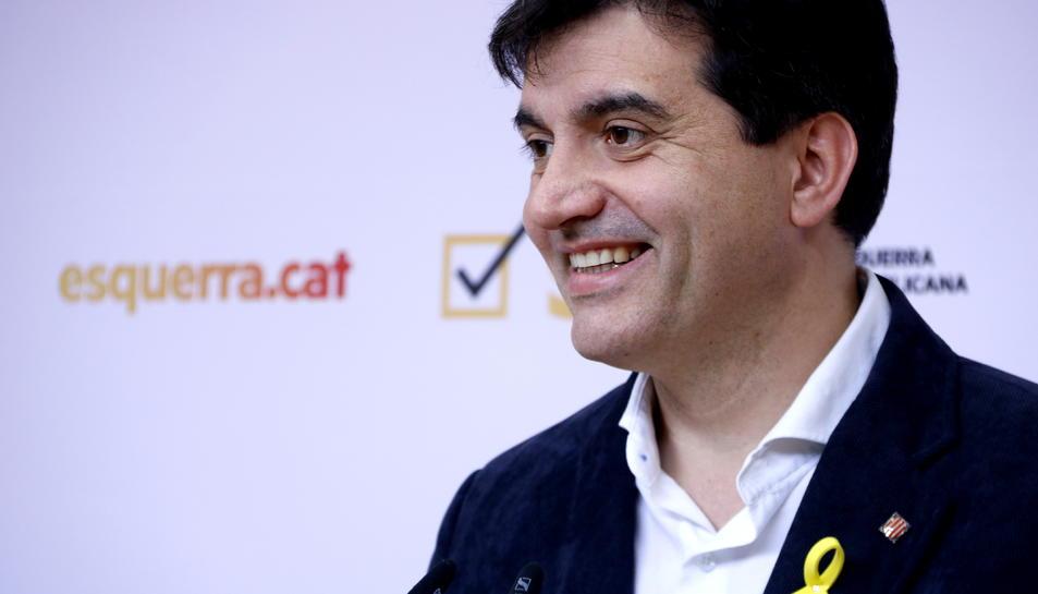 Sergi Sabrià, portaveu d'ERC
