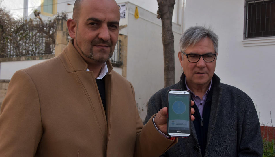 Imatge de la presentació de la nova app, Millorem Torredembarra.