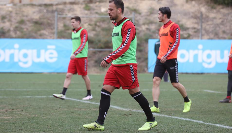Javier Matilla, entrenant.