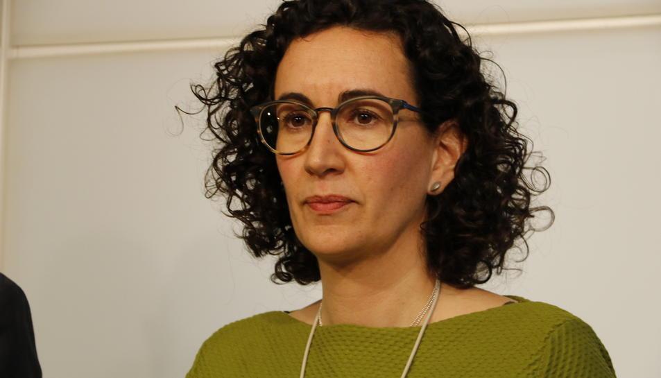 La presidenta del grup parlamentari d'ERC, Marta Rovira.