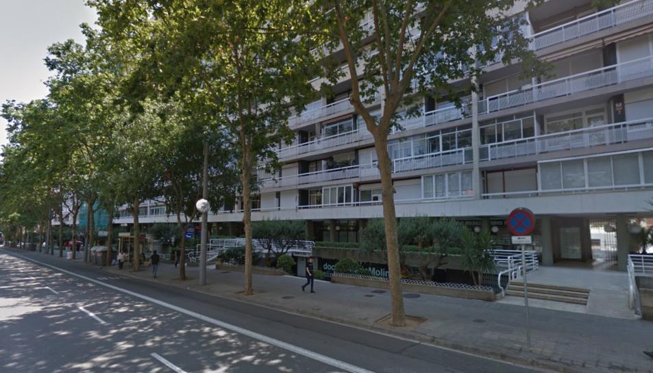 Imatge del carrer Numància de Barcelona on els detinguts van oferir a l'agent un pis franc.