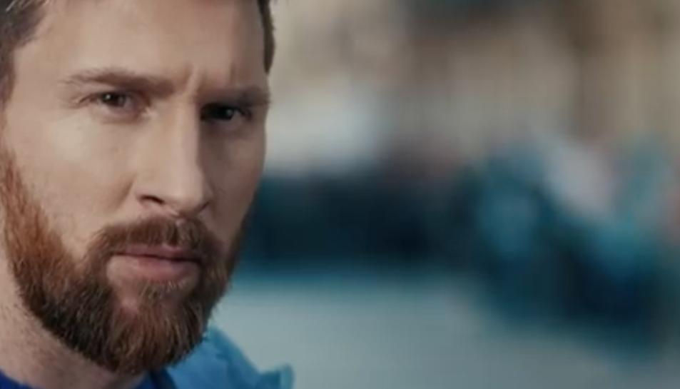 Messi, durant l'anunci.