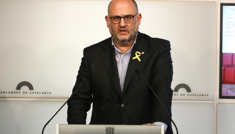 Imatge d'arxiu del portaveu adjunt de JxCat, Eduard Pujol.