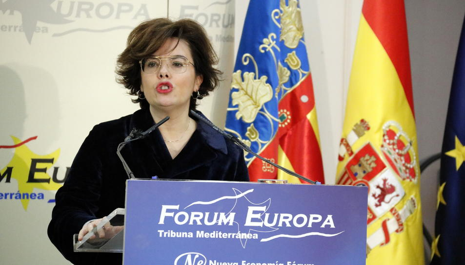 Imatge d'arxiu de la vicepresidenta del govern espanyol, Soraya Sánchez de Santamaría.