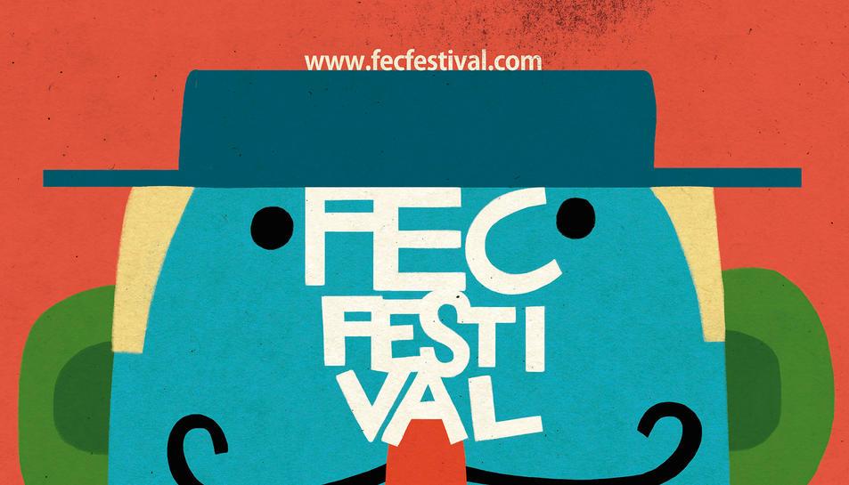 Imatge del cartell de la 20ena edició del FEC Festival de Reus. Imatge del 7 de març de 2018 (vertical)
