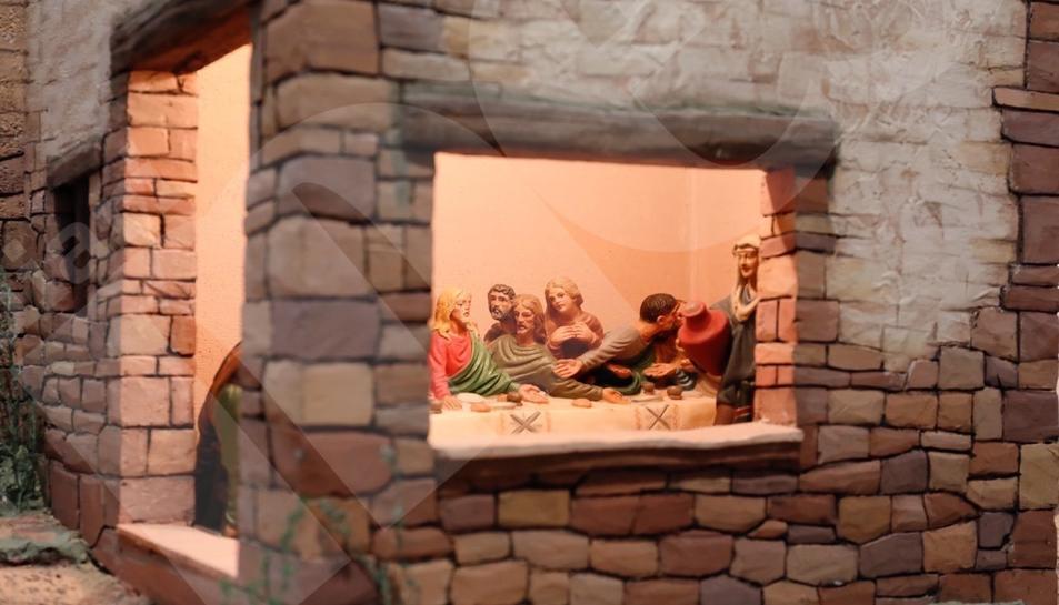 Josep Puig mostra el seu Diorama de la Passió