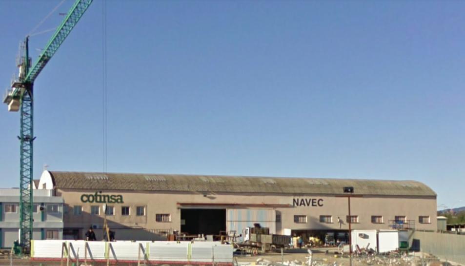 Imatge de la nau de l'empresa Gurpo Navec, on s'ha produït l'accident.