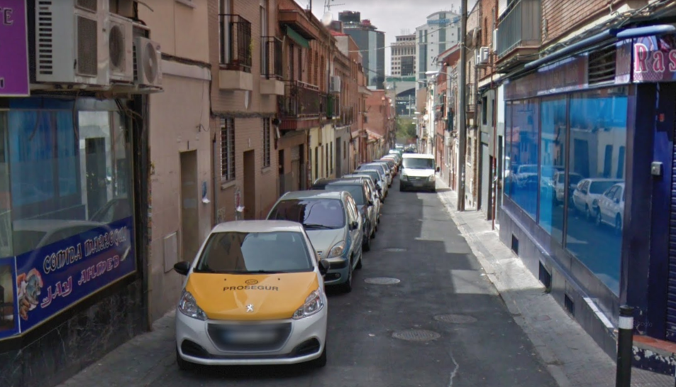 Imatge del carrer madrileny on van tenir lloc els fets.