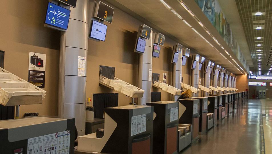 Una imatge d'arxiu de l'interior de l'Aeroport de Reus.