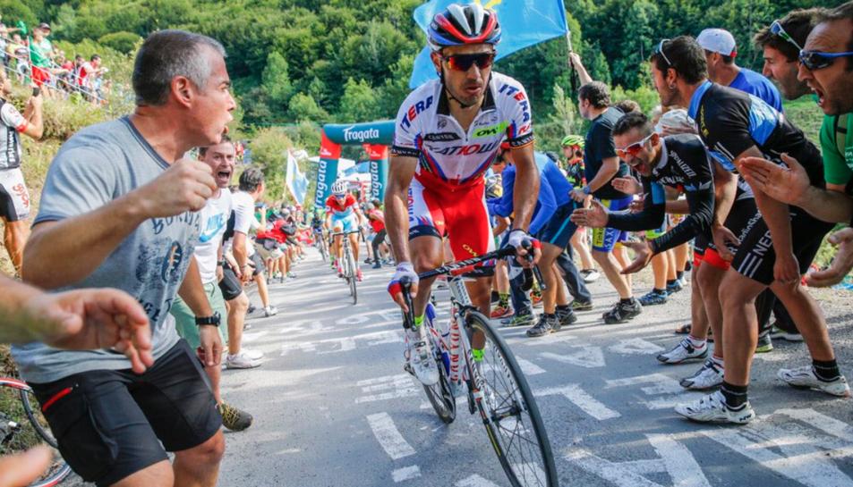 'Purito' durant la Volta Ciclista a Espanya.