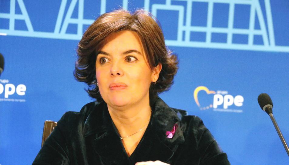 La vicepresidenta del govern espanyol, Soraya Sánz de Santamaria.