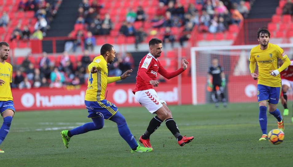 Javi Márquez, contra el Cádiz.