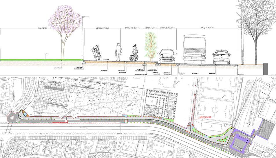 Imatge del projecte que afectarà el passeig Charles Darwin.