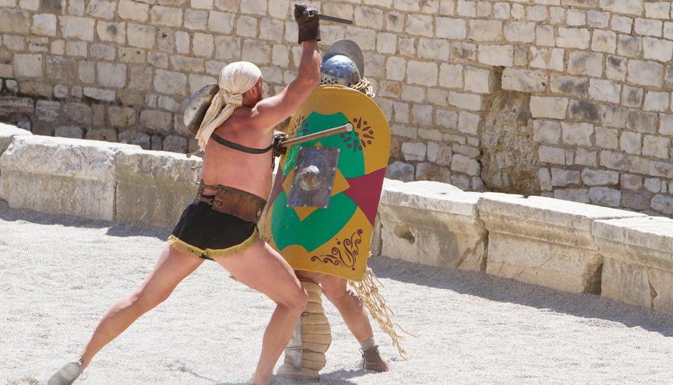 L'Amfiteatre és un dels recintes romans que acullen espectacles en el marc de Tarraco Viva.