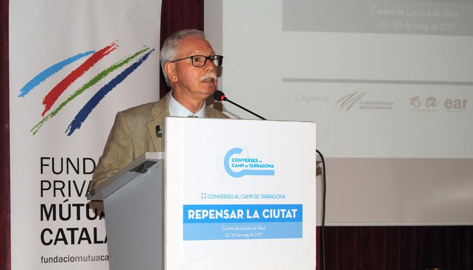 Francesc Roig, patró de la Fundació, durant un dels actes de la passada edició de la iniciativa.