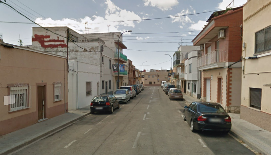 Imatge del carrer Roger de Llúria, on s'ha produït l'accident laboral.