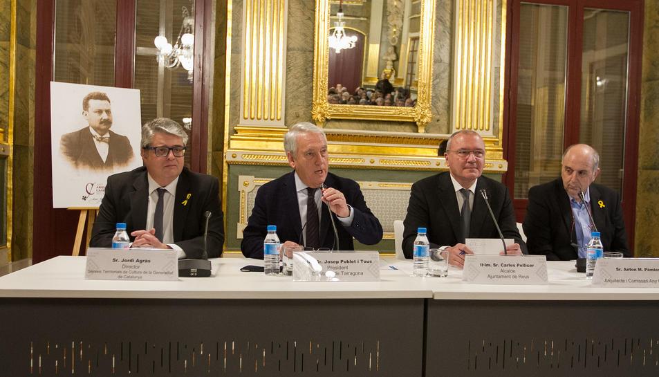 Imatge de la presentació de l'any Pere Caselles.