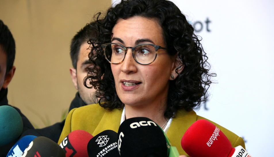 Imatge d'arxiu de la presidenta del grup parlamentàri d'ERC, Marta Rovira.