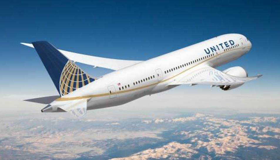 Imatge d'un avió d'United Airlines.