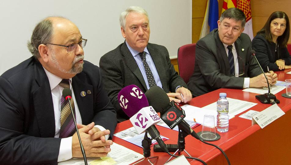 Antoni González, Josep Poblet i Josep Anton Ferré durant la presentació.